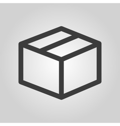 The box icon Delivery and shipping symbol Flat vector image