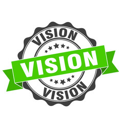 Vision stamp sign seal vector
