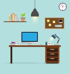 workspace background vector image
