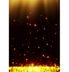 Yellow dark bokeh abstract light background vector