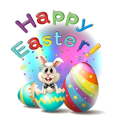 A happy easter poster vector