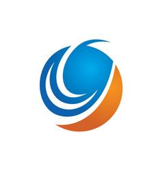 Round swirl abstract design logo vector