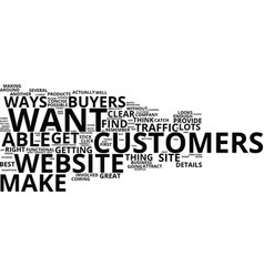You ve got the web traffic now get the buyers vector