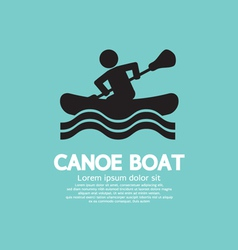 Man row a canoe boat vector