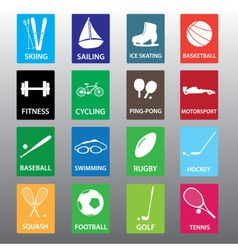 Sport equipment color icon set eps10 vector