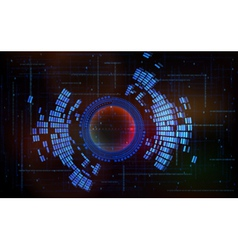 Abstract technology-style background-code zero one vector image
