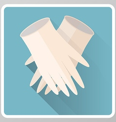 Medical gloves icon vector