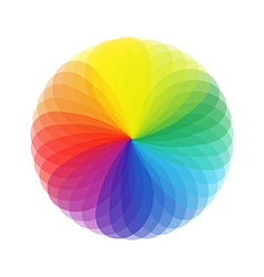 Round color guide wheel vector