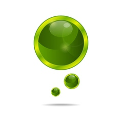 abstract eco green bubbles - vector image