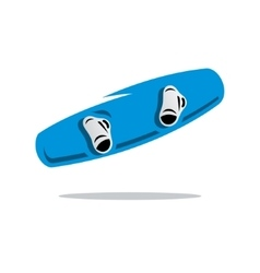 Wakeboard cartoon vector