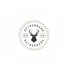 Deer head design element in vintage style for vector
