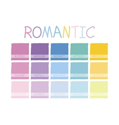 Romantic color tone vector
