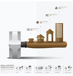 Business and real estate construction infographic vector