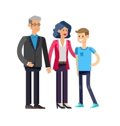 Parents with kids couple family and children vector