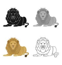 A lion a wild and ferocious predator leo the vector