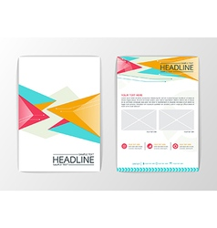 Abstract Background modern Triangle design vector image vector image