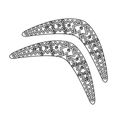 Australian boomerang icon in outline style vector