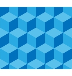 Blue cubic seamless pattern vector image vector image