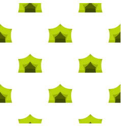 Camping equipment pattern flat vector