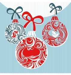 christmas decorative vector image vector image