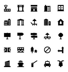 City elements icons 8 vector