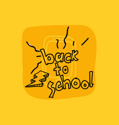 class and school scribbles vector image
