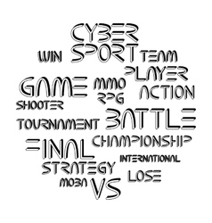 Cyber sport phrases vector