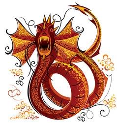 Dragon drawing vector