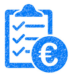 Euro purchase pad grunge icon vector