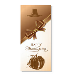 Greeting card for thanksgiving vector