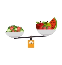 Healthy food menu icon vector