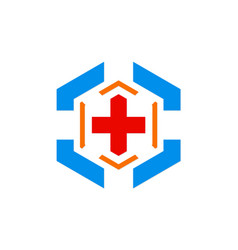 Hospital cross sign logo vector