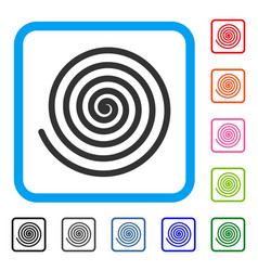 Hypnosis spiral framed icon vector