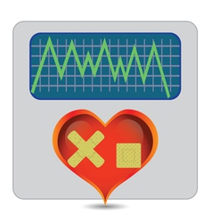 illness heart vector image vector image
