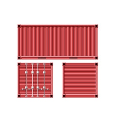 Metal cargo container vector image