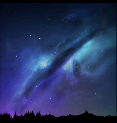 Milky Way vector image