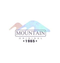 mountain original estd 1965 logo tourism hiking vector image vector image