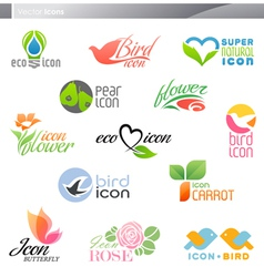 nature logos vector image