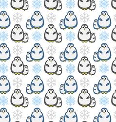 penquin pattern vector image