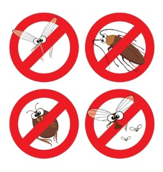 Pests in Stop Sign vector image