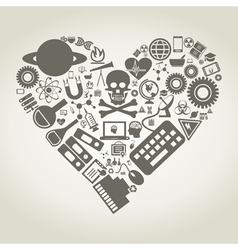 Science heart vector image