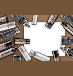 set of cosmetics for men vector image vector image