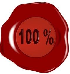 Seal 100 percent vector