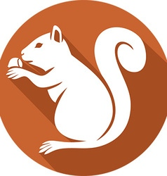 Squirrel with a Hazelnut Icon vector image