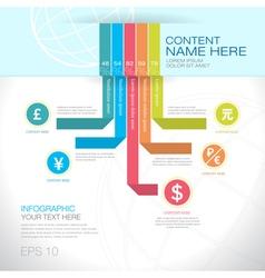 Modern graph design or infographic design template vector
