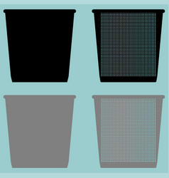 Pail bucket serene or dustbin with metal for vector