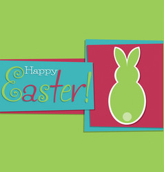 Funky easter bunny card in format vector
