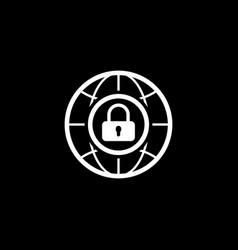 Internet security icon flat design vector