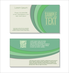 Retro green business card vector