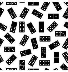 Seamless domino background vector image